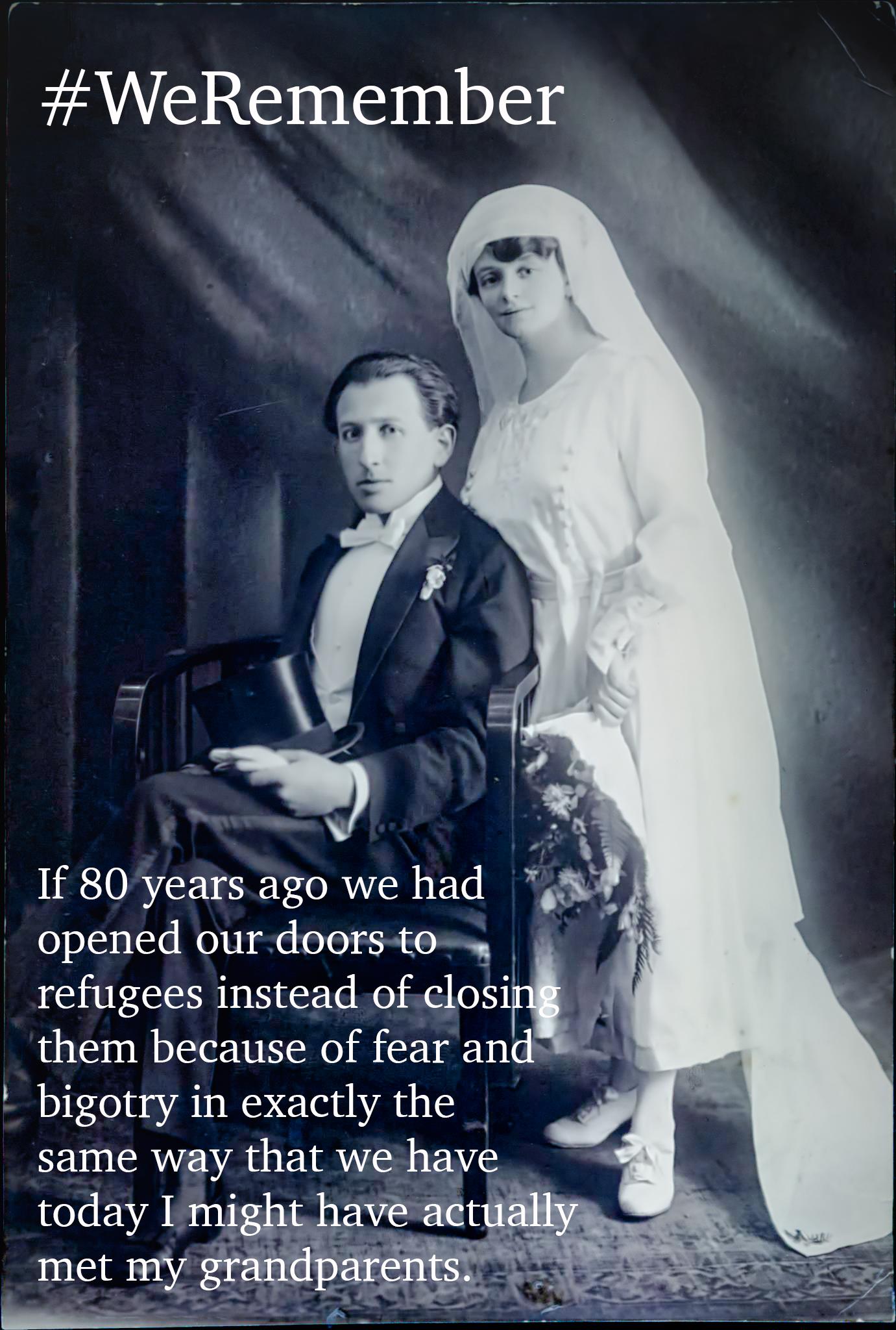 My grandfather Julius and grandmother Josefine on their wedding